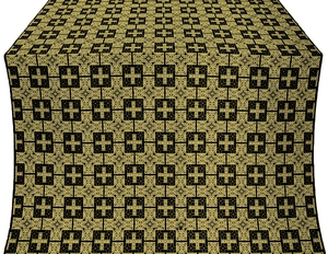 Czar's metallic brocade (black/gold)