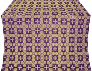 Czar's metallic brocade (violet/gold)