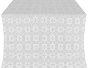 Czar's metallic brocade (white/silver)