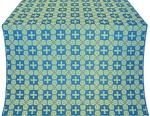 Czar's silk (rayon brocade) (blue/gold)