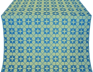 Czar's silk (rayon brocade) (blue/gold)