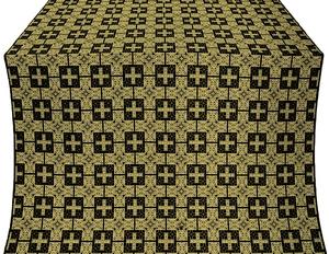 Czar's silk (rayon brocade) (black/gold)