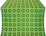 Czar's silk (rayon brocade) (green/gold)