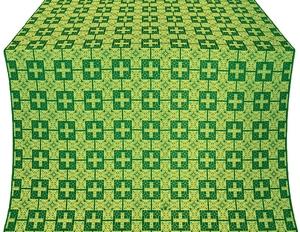 Czar's silk (rayon brocade) (green/gold)