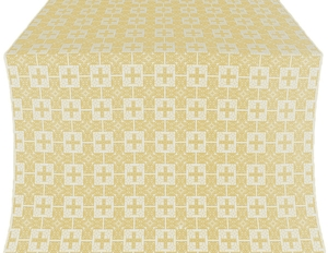 Czar's silk (rayon brocade) (white/gold)