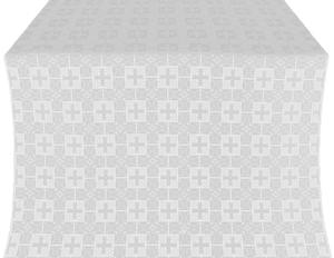 Czar's silk (rayon brocade) (white/silver)