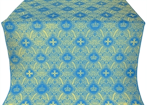 Kingdom metallic brocade (blue/gold)