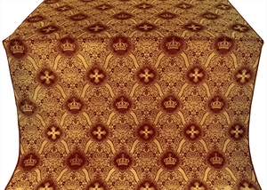 Kingdom metallic brocade (claret/gold)