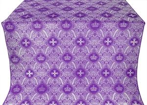 Kingdom metallic brocade (violet/silver)