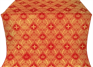 Kingdom metallic brocade (red/gold)