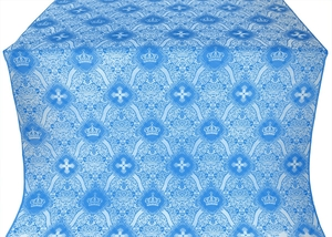 Kingdom silk (rayon brocade) (blue/silver)