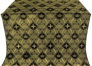 Kingdom silk (rayon brocade) (black/gold)