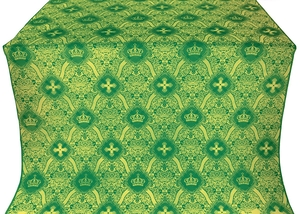 Kingdom silk (rayon brocade) (green/gold)