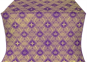 Kingdom silk (rayon brocade) (violet/gold)