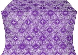 Kingdom silk (rayon brocade) (violet/silver)
