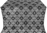 Kingdom silk (rayon brocade) (black/silver)
