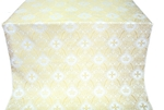 Kingdom silk (rayon brocade) (white/gold)