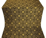 Ancient Byzantium metallic brocade (black/gold)