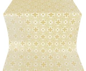 Ancient Byzantium metallic brocade (white/gold)