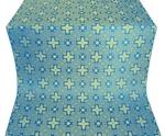 Ancient Byzantium silk (rayon brocade) (blue/gold)