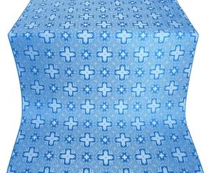 Ancient Byzantium silk (rayon brocade) (blue/silver)