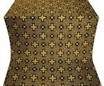 Ancient Byzantium silk (rayon brocade) (black/gold)