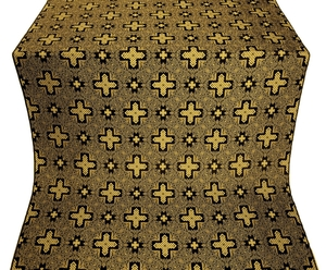 Ancient Byzantium silk (rayon brocade) (black/gold)
