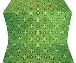 Ancient Byzantium silk (rayon brocade) (green/gold)