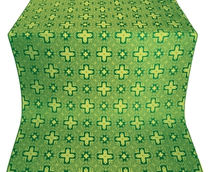 Ancient Byzantium silk (rayon brocade) (green/gold)