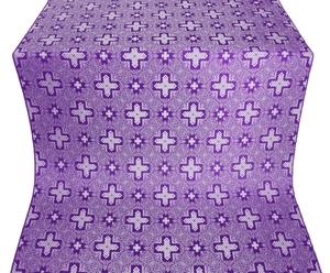Ancient Byzantium silk (rayon brocade) (violet/silver)