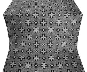 Ancient Byzantium silk (rayon brocade) (black/silver)