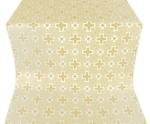 Ancient Byzantium silk (rayon brocade) (white/gold)