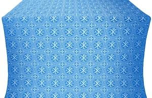 Alpha-and-Omega metallic brocade (blue/silver)