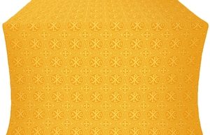 Alpha-and-Omega metallic brocade (yellow/gold)