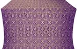 Alpha-and-Omega metallic brocade (violet/gold)