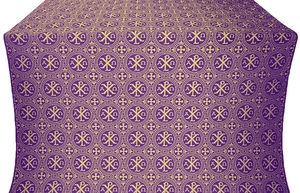 Alpha-and-Omega metallic brocade (violet/gold)