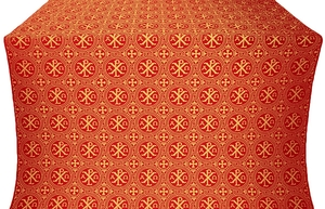 Alpha-and-Omega metallic brocade (red/gold)