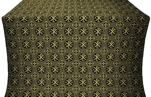 Alpha-and-Omega silk (rayon brocade) (black/gold)