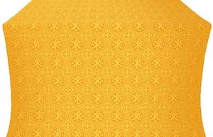 Alpha-and-Omega silk (rayon brocade) (yellow/gold)