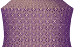 Alpha-and-Omega silk (rayon brocade) (violet/gold)