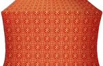 Alpha-and-Omega silk (rayon brocade) (red/gold)