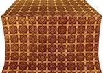 Ryazan metallic brocade (claret/gold)