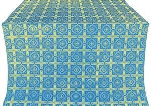 Ryazan silk (rayon brocade) (blue/gold)