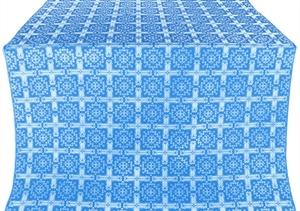 Ryazan silk (rayon brocade) (blue/silver)