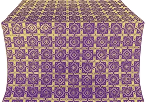 Ryazan silk (rayon brocade) (violet/gold)