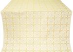 Ryazan silk (rayon brocade) (white/gold)