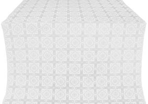 Ryazan silk (rayon brocade) (white/silver)