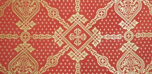 Ouglich metallic brocade (red/gold)