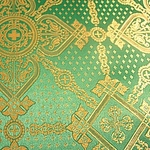 Ouglich silk (rayon brocade) (green/gold)