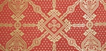 Ouglich silk (rayon brocade) (red/gold)